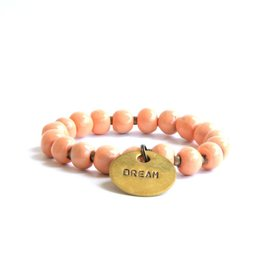 Simbi USA Inc SIMBI CLAY DREAM CHARM BRACELET PAPAYA