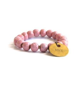 Simbi USA Inc Clay Hope Charm Pink Bracelet