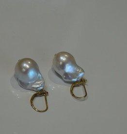 Baroque Lever Back Pearl Earrings