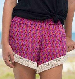 Natural Life Pink Vines Lounge Shorts
