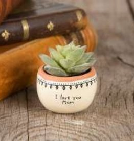 "Natural Life ""I Love You Mom"" Succulent Keepsake"