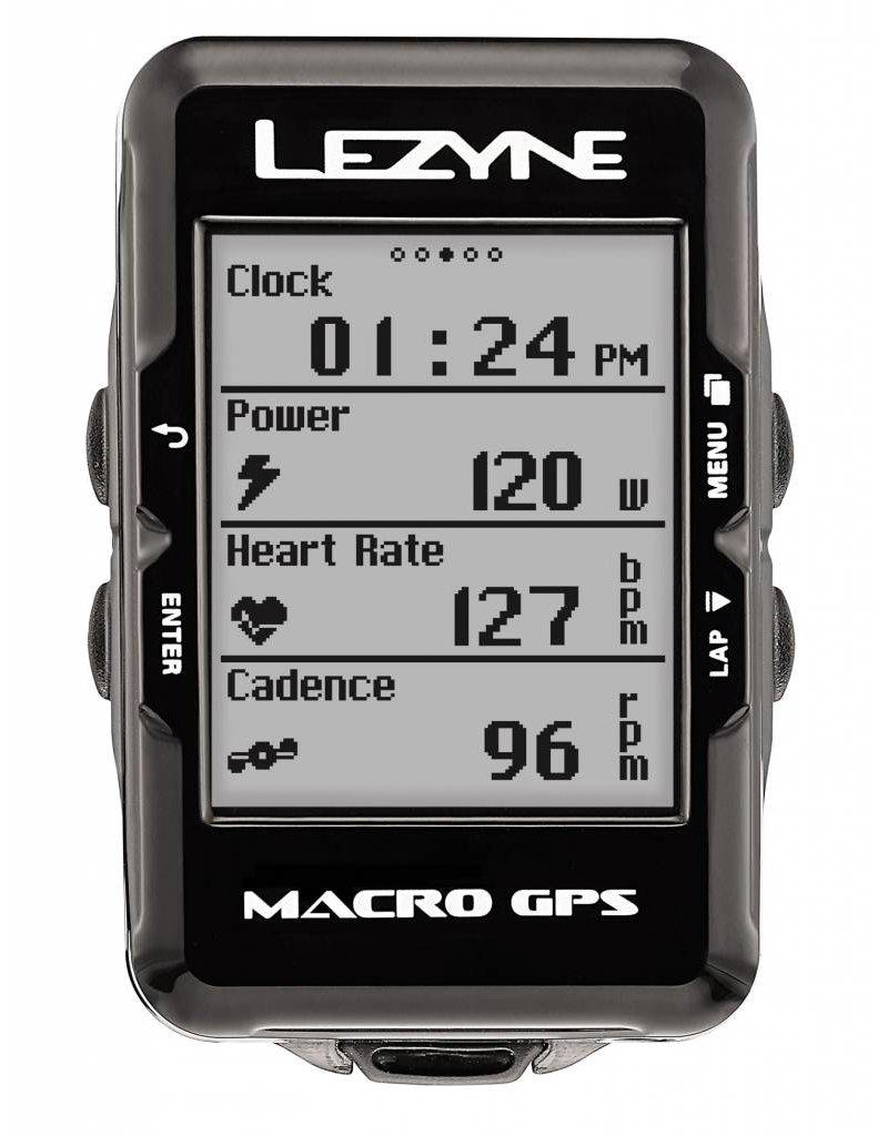Lezyne Cyclomètre Macro GPS, Avec HR & Capteurs Vit./Cad.
