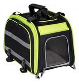 Pannier arrière extensible pour animal, Vert/Noir