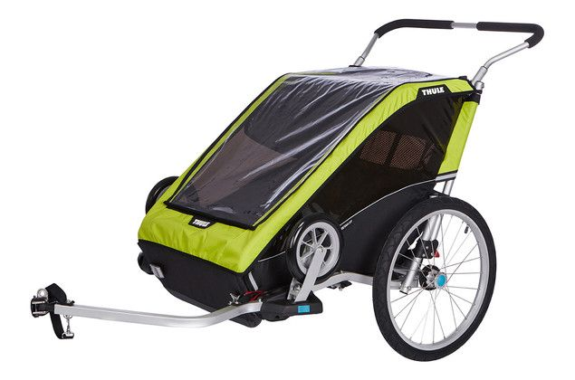 Thule Chariot Cheetah XT  + Cycle/Stroller Chartreuse