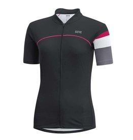 Gore Bike Wear C5 Wmn, Maillot a manches courtes, Noir/Gris Asteroide