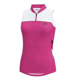 Gore Bike Wear C5 Wmn, Maillot sans manches, Rose Framboise/Blanc