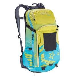 EVOC FR Trail Women Protector, 20L, Sac a dos, Souffre/Bleu neon, S