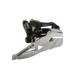 Sram X9, Derailleur avant, 2x10vit., Collet bas, 31.8/34.9mm, Bottom pull