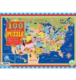 USA Map 100-pc Puzzle
