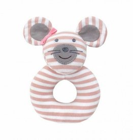 Organic Teething Rattle- Ballerina Mouse