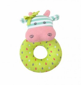 Organic Teething Rattle- Belle Cow