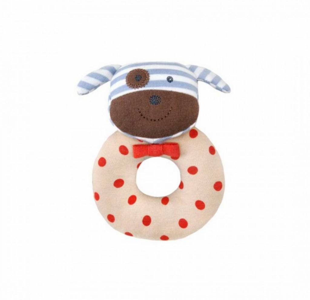 Organic Teething Rattle- Boxer Dog