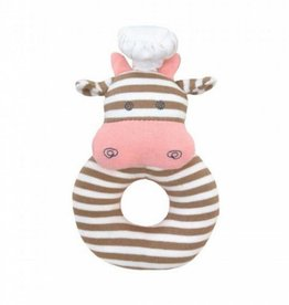 Organic Teething Rattle- Chef Cow