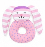 Organic Teething Rattle- Hip Hop Bunny