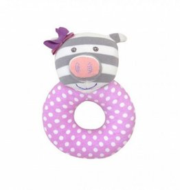 Organic Teething Rattle- Penny Pig