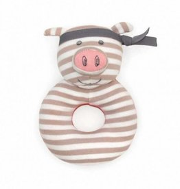 Organic Teething Rattle- Pork Chop