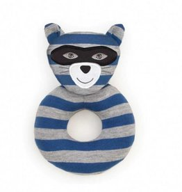 Organic Teething Rattle- Robbie Raccoon