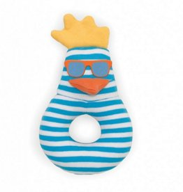 Organic Teething Rattle- Surfer Chick