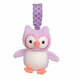 Organic Stroller Toy- Purple Owl