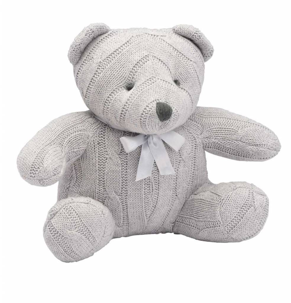 Elegant Baby Cable Knit Teddy Bear