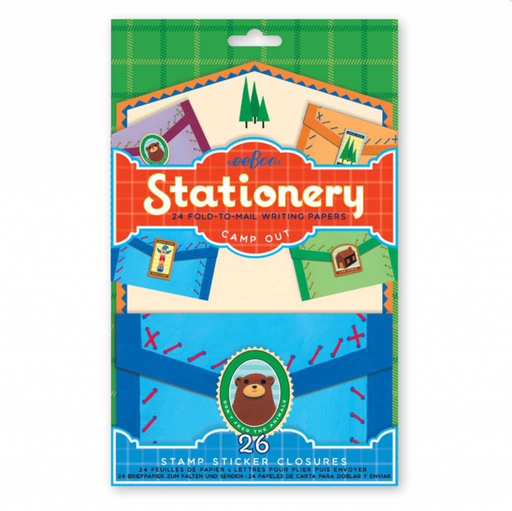 Camp Out Fold-to-Mail Stationery