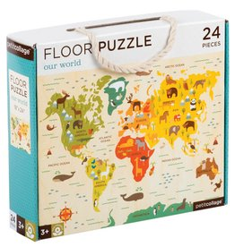 World Map 24-Piece Puzzle