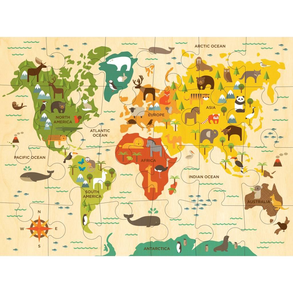 World Map 24-Piece Puzzle