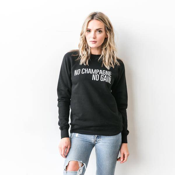 "BRUNETTE THE LABEL ""NO CHAMP"" P/O SWEATSHIRTS"