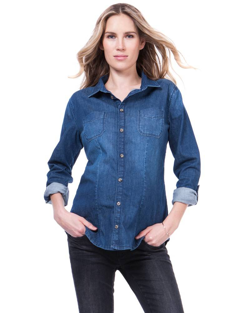 "SERAPHINE ""CARTER"" DENIM SHIRT W030117"