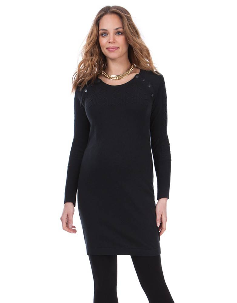 "SERAPHINE ""RITA"" CABLE YOKE KNITTED DRESS W010149"