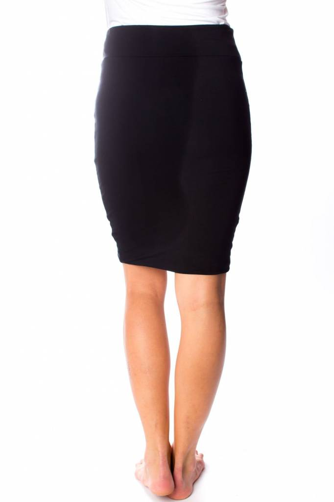 "ORB CLOTHING ""DALHIA"" RUCHED KNIT SKIRT 73-1304"