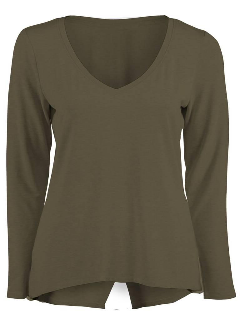DEX CLOTHING L/SLV XOVER BACK TEE 1024078