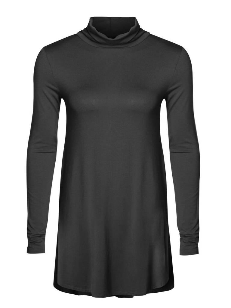 DEX CLOTHING DROP SHLDER MOCK NECK TEE 1022097