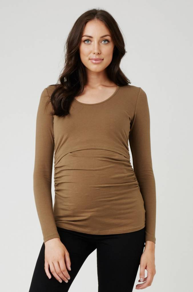 "RIPE ""ALI"" L/S NURSING TOP W6119"