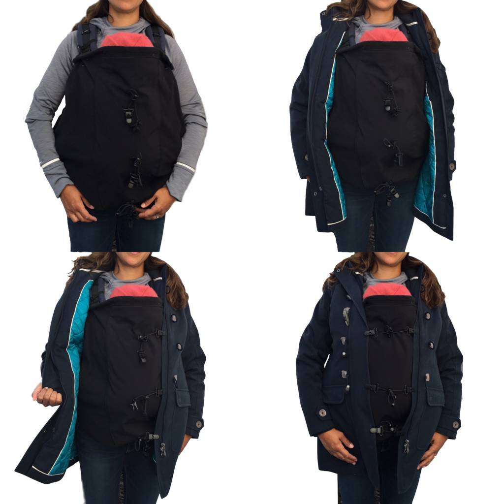 "MAKE MY BELLY FIT ""BABY COVER"" BLACK WBC0001"