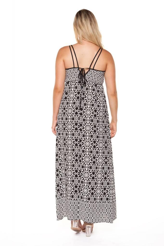 DEX CLOTHING SPAG STRAP PRINT DRESS 1122410