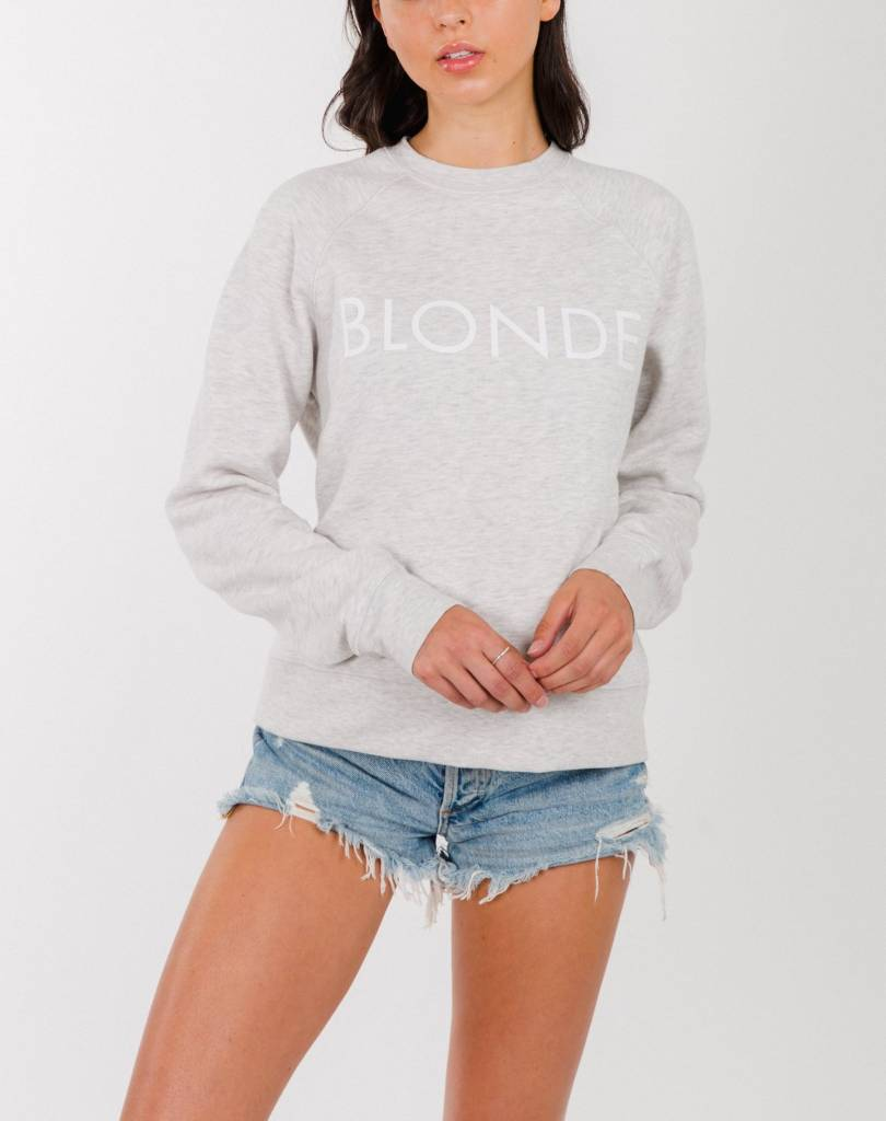 "BRUNETTE THE LABEL ""MIDDLE SISTER"" CREW SWEATER"