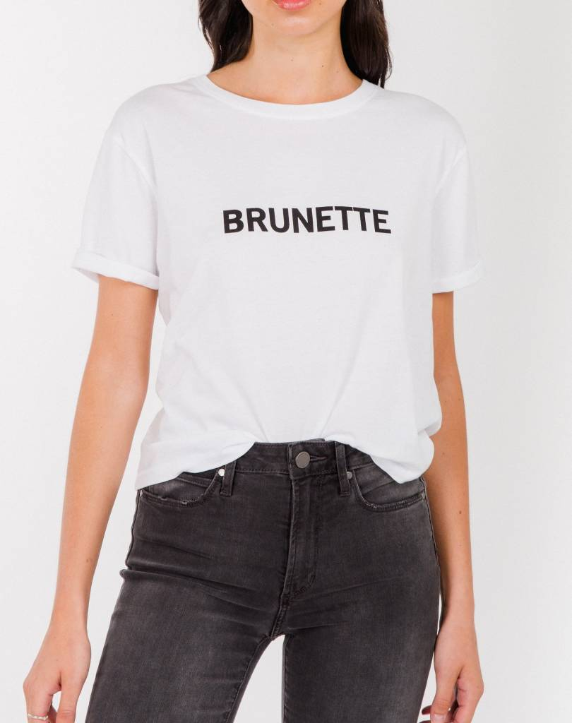 "BRUNETTE THE LABEL ""CROPPED TEE"""