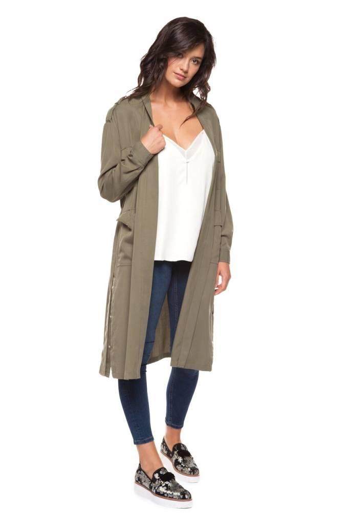 DEX CLOTHING LONG TIE WAIST JACKET 1229500