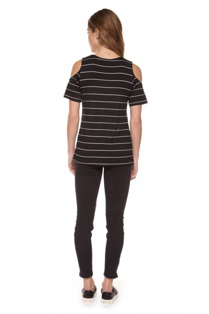 DEX CLOTHING S/S COLD SHOULDER TEE 1224132