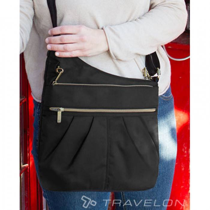 Travelon Sac Antivol Travelon Signature 3 Compartiment