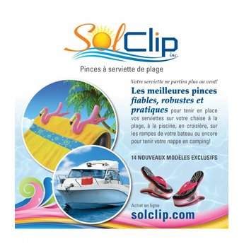 Solclip Pince a serviette SolCLIP Flip Flop Skull