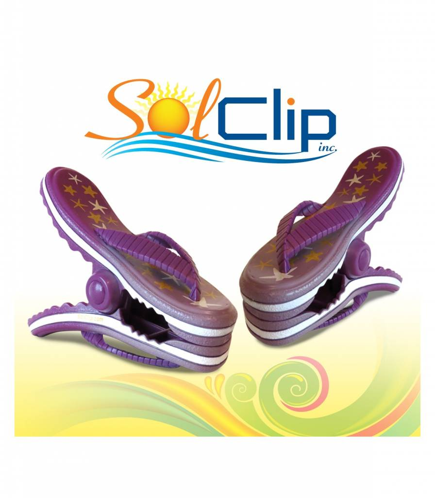 Solclip SolCLIP towel clip Flip Flop Stars