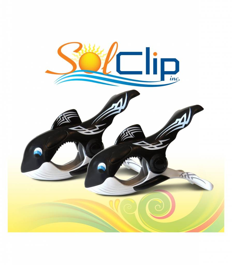 Solclip SolCLIP towel clip Whale Tattoo