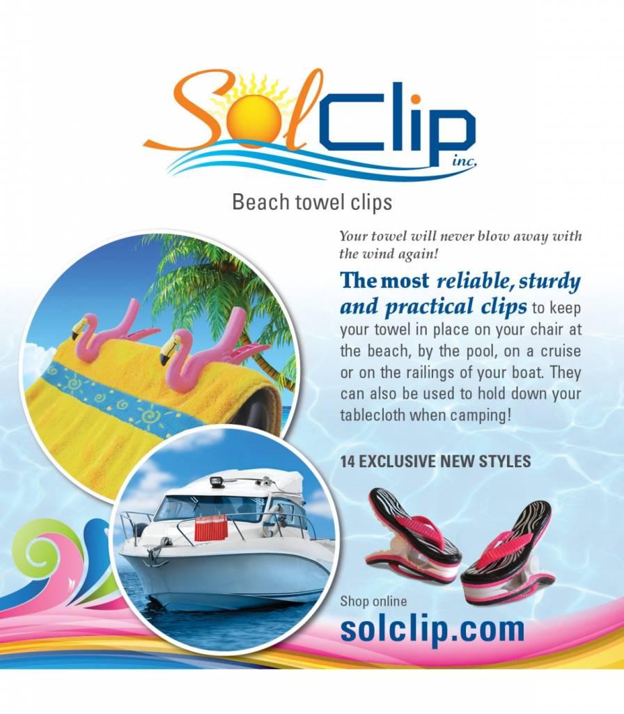 Solclip SolCLIP towel clip Flamingo Caribbean