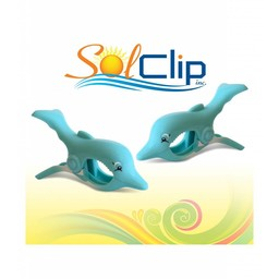 Solclip SolCLIP towel clip Dolphin Splash