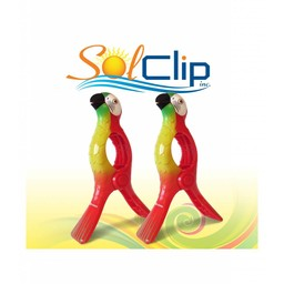 Solclip Pince a serviette SolCLIP Parrot Red Macaw