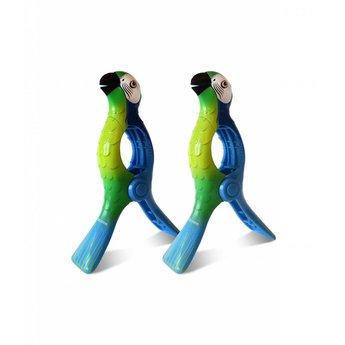 Solclip Pince a serviette SolCLIP Parrot Blue Macaw