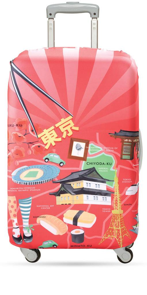 Loqi Loqi Medium Luggage Cover Tokyo