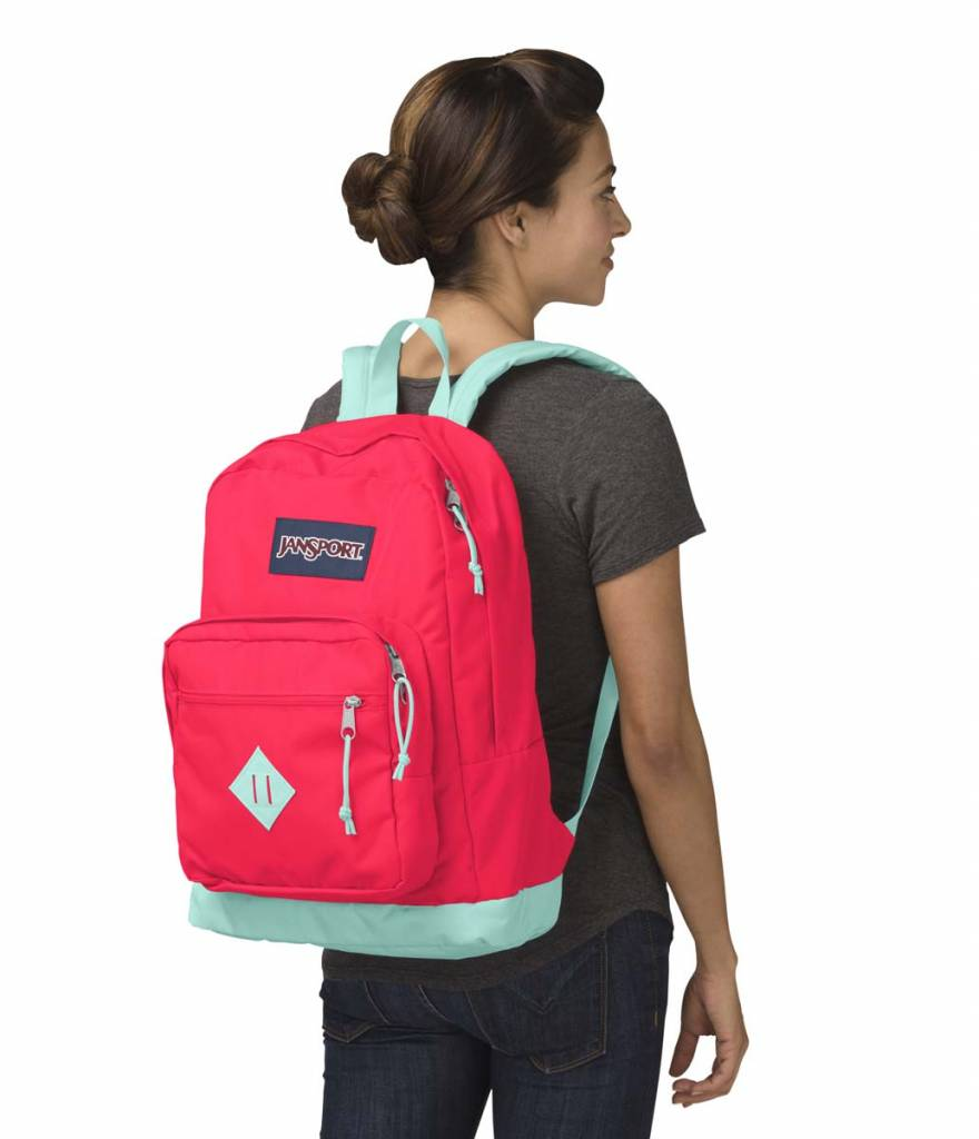 Jansport Sac a dos Jansport  city scout back pack Fluorescent Red